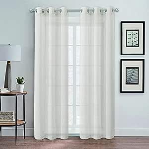 Dainty Home Au 自然窗板一对 Linen 76x84'' AUN7684LI