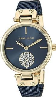 Anne Klein 女士施华洛世奇水晶点缀网格手链手表