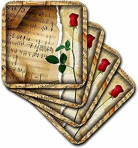 苏珊布朗设计音乐主题–音乐适用于玫瑰–杯垫