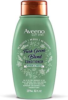 Aveeno 清爽浓密+清新绿混合护发素,12 盎司