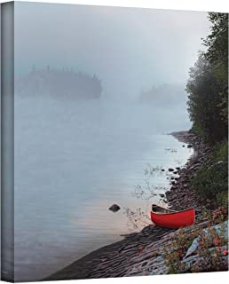The Art Wall 24 by 24-Inch Smoke on the Water Wrapped Canvas by Ken Kirsch