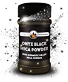 Mica Powder - 3.5 盎司/100 克 [大号 x3-5 我们的竞争对手尺寸]化妆品级 - 真实颜色 - 漂亮的云母,适用于薄层、肥皂制作、沐浴炸弹、化妆品、* 黑色 OBMICA