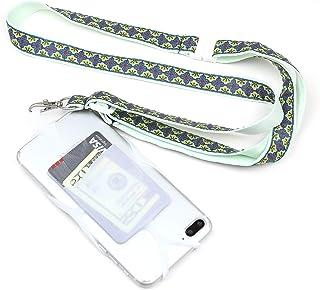 手机挂绳手机套带卡袋,可调节颈带和斜挎带,适用于 iPhone 11 Pro Max Xs Max Xr X 8 7 6 Plus Galaxy S10e S10 S9 S8 Plus Note 9 8 Pixel 3 XLTC-SH-LMT 薄荷绿