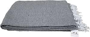 Open Road Goods 手工纯色瑜伽毯 - 厚墨西哥毛毯或抱毯 - 为瑜伽制造! 灰色毯子 X大码 MX1-GreyPln