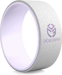 UpCircleSeven 瑜伽轮 - [Pro 系列] *强、*舒适的 Dharma 瑜伽道轮,后轮用于拉伸和改善后弯,30.48 x 12.7 厘米基本款