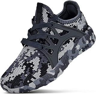 MARSVOVO 男式运动鞋超轻透气网布跑步散步鞋