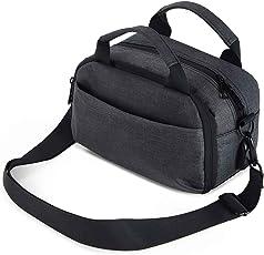 Awaytoy 防水中号软手提相机包单肩包带防雨罩,适用于尼康 、佳能、索尼 DSLR、无镜和其他摄像机