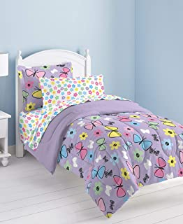 sweet 蝴蝶超软超细纤维被子床上用品套装紫色多种颜色