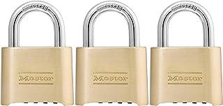 Master Lock 175D 锁扣套装您自己的密码锁,1 个装,黄铜饰面 - 3 个装