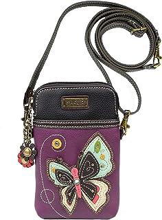 Chala 紫色蝴蝶手机斜挎包手提包 - 可转换肩带蝴蝶情侣配饰
