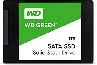 Western Digital Green 1TB 内置 PC 固态硬盘-SATA III 6 Gb / s,2.5英寸/ 7毫米-WDS100T2G0A