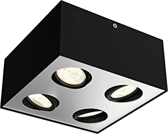 Philips 飞利浦 myLiving 聚光盒,暖光,调光效果 黑色 20.2  x  20.2  x  10 cm 5049430P0