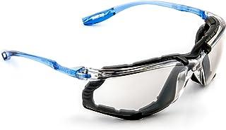 3M Safety Glasses, Virtua CCS Protective Eyewear 11874, Removable Foam Gasket, Anti-Fog, Indoor/Outdoor Mirror Lenses, Cor...