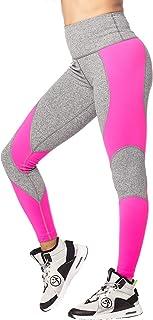 zumba 健身女式新款 ON THE 场景露脐豹纹打底裤