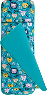 Wildkin 儿童毛绒睡垫,适合幼儿男孩和女孩,非常适合日托和学龄前使用,配有毛毯,天鹅绒野生午睡垫睡袋尺寸:57.5 x 20 x 1.5 英寸,不含双酚A(派对动物)