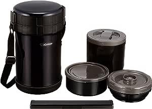 ZOJIRUSHI 象印 不锈钢便当盒 约4杯茶碗的量 约1.6合(约0.27L)  可用于微波炉 黑色  SL-XE20-AD
