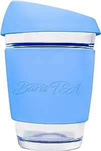Handsome BarisTEA 340.19 克可重复使用的咖啡茶杯杯杯/杯 浅蓝色 12 盎司