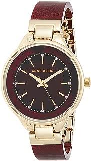 Anne Klein 女士施华洛世奇水晶和手镯手表