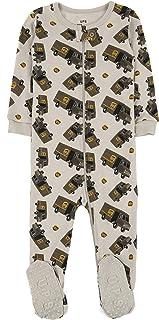Leveret UPS Truck 女婴婴连脚睡衣睡衣 * 纯棉 幼儿 睡衣(6 个月-5 学步儿童)