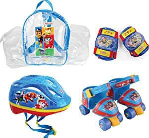 Paw Patrol DARP-OPAW002 Size 7-11 Quad Skate with Helmet, Knee, Elbow Pad and Bag Protection Pack
