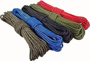 Ravenox 高级涤纶配件绳 | 户外绳 适用于露营配件 | 涤纶绳和绳子 | 露营必备物品,适用于货物捆扎、划船、打猎、钓鱼、露营和航海
