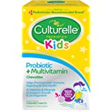 Culturelle 儿童益生菌+完整的多种维生素 咀嚼 维生素A, C, E的优秀来源 含有LGG 经过验证的益生菌  30粒