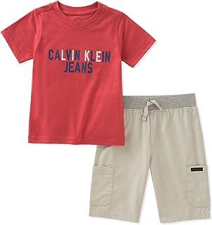 Calvin Klein 卡尔文·克莱恩 大男童 上衣短裤 2件套