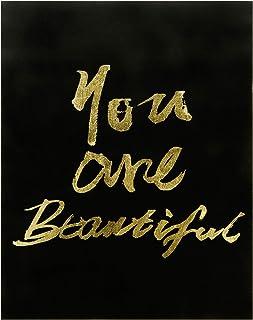 "Empire Art Direct""You are Beautiful Gallery Wrap 金色印花帆布,黑色;金色"