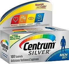 Centrum 善存 银装 男士复合维生素/多种矿物质补充剂,维生素D3,50岁以上,100片