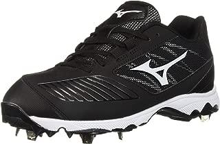 Mizuno 女式 9-Spike 高级拖鞋 4 低金属垒球鞋钉鞋 黑色/白色 9.5 M US
