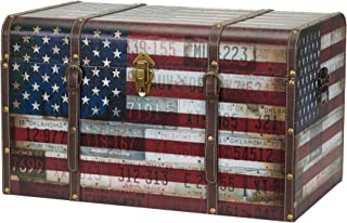 Household Essentials 9203-1 特大装饰家居储物行李箱 - 行李风格 - 美国设计