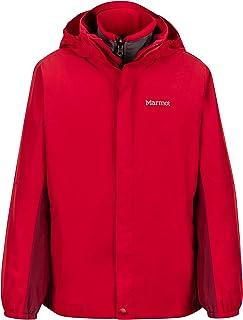 Marmot Northshore 男孩防水连帽雨衣,带可拆卸羊毛内衬