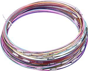 KONMAY 50 只混合颜色*线手链带螺丝夹-多色 20 种颜色 7'' MB-001-7
