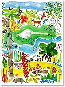 GreenBox Art + Donna Ingemanson 创作的《植物园》帆布墙画,45.72 x 60.96 cm