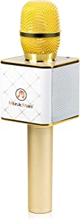 MusicMan 4685 Karaoke 麦克风 BT X31(蓝牙,兼容智能手机/苹果 iPhone/白色