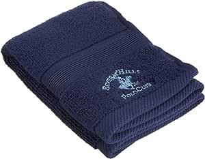 Beverly Hills Polo Club 100% Low Twist Cotton Washcloth, Navy