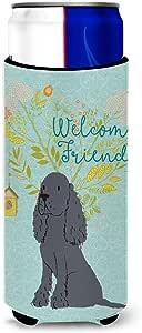 Caroline's Treasures BB7618MUK Welcome Friends 黑色可卡犬装饰手提箱,多色