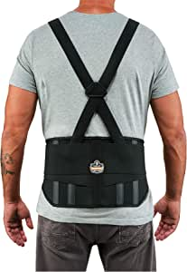 Ergodyne ProFlex 标准弹性背部支撑带,黑色 中 1600