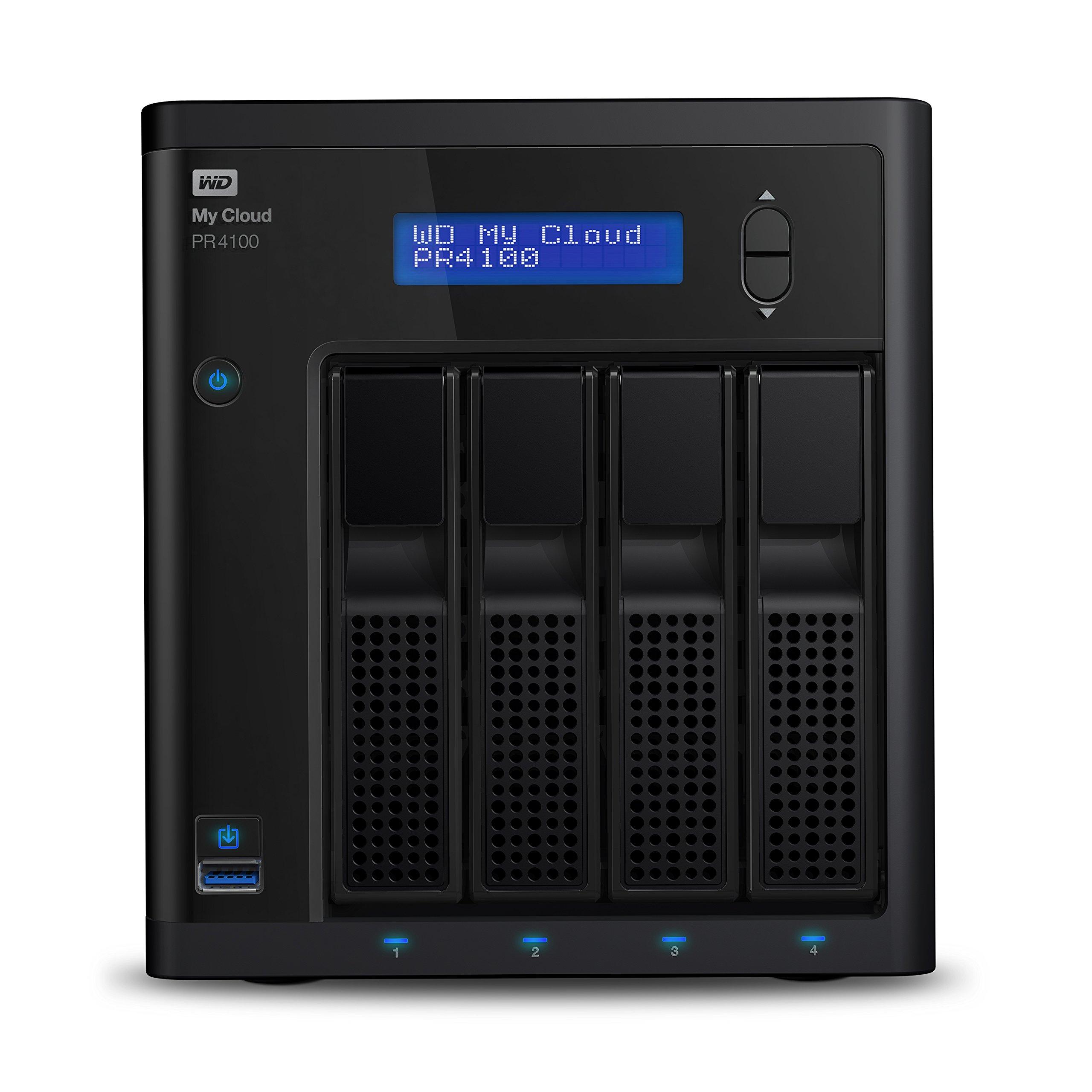 WD 0TB My Cloud Pr4100 Network Attached Storage (WDBNFA0000NBK-NESN)