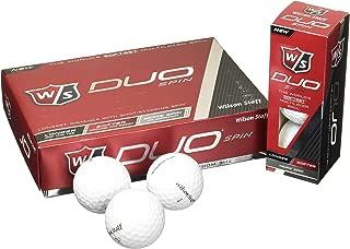 Wilson Staff Duo Spin 高尔夫球(12 只装),白色