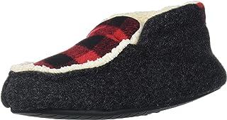 Dearfoams 儿童幼儿毛毡超细羊毛格子短靴拖鞋