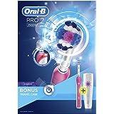 Oral-B博朗欧乐B  Pro 2500 3D白色电动充电牙刷 附带旅行盒  粉红色