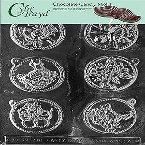 Cybrtrayd C048 12 天圣诞节,1 到 6 件套派对用巧克力糖果模具*Cybrtrayd 版权巧克力模制说明 透明 1 - 包 C048