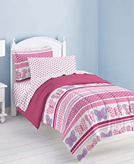 Butterfly Dots 超软超细纤维被子床上用品套装,粉色 多色 全部 2A747302MU