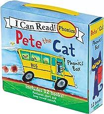 (进口原版) My First I Can Read Pete the Cat Phonics Box: Includes 12 Mini-Books Featuring Short and Long Vowel Sounds