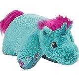 "枕头 彩色 粉色 独角兽 大人物 枕头 36 months to 1200 months 18"" Stuffed Animal Plush toy Teal Unicorn"