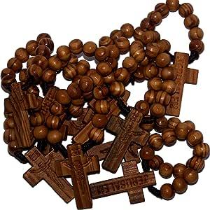 Holy Rosary 带天鹅绒袋、盒子和 The Holy Land 土壤 8mmFIngerRosaries10