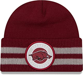 New Era NCAA 2 条纹混合袖口针织无檐小便帽