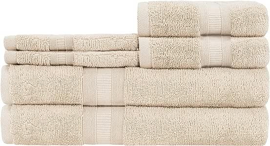 Caro Home 6 件浴巾套装 Maggie Beacon Sabina Airplush Airplush Beige 6SOS1645406