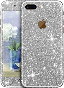 Furivy 精致的闪亮贴纸适用于 iPhone 7 Plus(5.5 英寸)奢华全身闪光保护贴纸 iPhone 7 Plus 银色